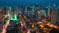 Areal night view on the Makati Metro district of Manila - business and shopping city, Luzon island 49236456