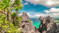 Tropical landscape of beautiful Big Lagoon and limestone cliffs on the El Nido, Palawan island 49236459