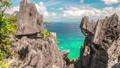 Tropical nature of beautiful rocks limestone cliffs and azure sea in El Nido, Palawan island 49236460