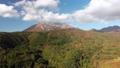 無人機鳥瞰圖飛過秋天的大山的落葉 49240889