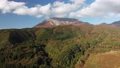 無人機鳥瞰圖飛過秋天的大山的落葉 49240891