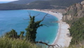 view over beach and lagoon Jaz towards beautiful green mountains on Montenegro 49262646