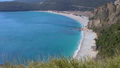 view over beach and lagoon Jaz towards beautiful green mountains on Montenegro 49262654