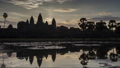 Sunrise Angkor Timelapse. Painted view of the ancient monument of Khmer architecture 49266164
