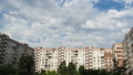 Clouds Moving Over The Multistorey Buildings. Time Lapse 49312835