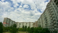 Clouds Moving Over The Multistorey Buildings. Time Lapse 49313192