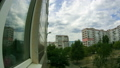 Clouds Moving Over The Multistorey Buildings. Time Lapse 49313195