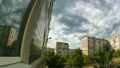 Clouds Moving Over The Multistorey Buildings. Time Lapse 49313197