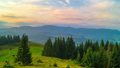 The Mountain Valley on Background of Sunset 49320892