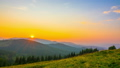 The Mountain Valley on Background of Sunrise 49320893