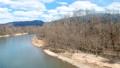 鸟瞰河和蓝天秋田县自然风景3月 49367274