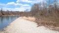 鸟瞰河和蓝天秋田县自然风景3月 49367282