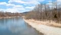 鸟瞰河和蓝天秋田县自然风景3月 49367286