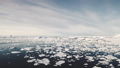 Antarctica surf open water seascape aerial view 49381365