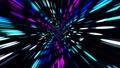 Moving Fast Through Futuristic City Lights 49385106