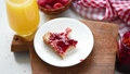Stop Motion animation eating toast with jam 49397426