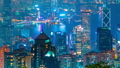Timelapse night view skyscrapers and Hong Kong cityscape. Hong Kong, China - February, 2019 49403805
