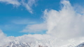 Nagano Prefecture Hakuba Village Snow Mountain and Clouds Timelapse: Paang 49408375