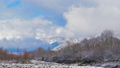 Nagano Prefecture Hakuba Village Snow scene and clouds timelapse 49408379