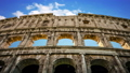 building of the Colosseum in Rome close up 49488765