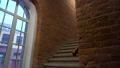 Background of old vintage brick wall, stairs and window 49510119