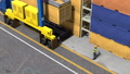 Industrial crane loading container 49517523