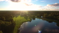 Aerial Flying Above the Lake in the Forest  49541291