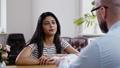 Indian girl attending job interview 49593265