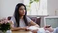 Indian girl attending job interview 49593282