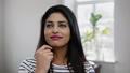 Young indian woman face close-up 49593297