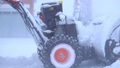 Cleaning of the territory with a snow removal machine. 49593940