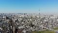 도쿄 공중 촬영 후지산과 철도와 도쿄 스카이 트리와 밀집한 거리 49616995