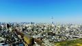 도쿄 공중 촬영 후지산과 철도와 도쿄 스카이 트리와 밀집한 거리 카라구레 49618231