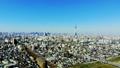 도쿄 공중 촬영 후지산과 철도와 도쿄 스카이 트리와 밀집한 거리 카라구레 49618798