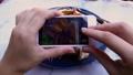 Female Hands Taking Food Photo of Vegan Lunch on Mobile Phone for Social Media or Blogging 49642635