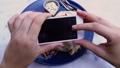Female Hands Taking Food Photo of Vegan Lunch on Mobile Phone for Social Media or Blogging 49642671