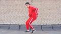 Hip hop dancing outdoors 49679103