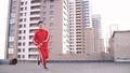 Dancer guy dancing break dance on the roof 49679110