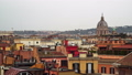 Panoramic city view of Rome, Italy on a cloudy winter day. Rome is full of authentic colourful 49688114