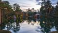 Kenrokuen Garden at twilight in Kanazawa, Japan 49699205