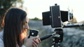 Photographer professional makes metering exposure meter. 49715845
