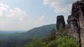 basalt rocks in natural park reserve Bohemian Switzerland in Czech in sunny weather 49722180