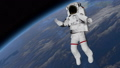 Astronaut Spacewalk, Astronaut shows thumbs up in the open space. Elements of this video furnished 49732059