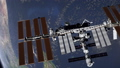 International Space Station ISS revolving over earths atmosphere. Elements of this video furnished 49732076