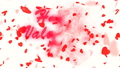 Happy Valentine's Day Gold Text. Valentine's day abstract background,flying hearts and particles 49732082