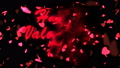 Happy Valentine's Day Red Text. Valentine's day abstract background,flying hearts and particles 49732084