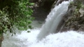 Waterfall on a Forest River. Slow Motion 49868035