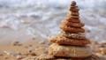 Morning Surf and a Pebble Pyramid. Seamless Loop 50035100