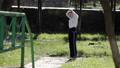 Girl in the park plays sports 50056724