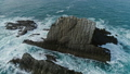 Aerial view of sea waves and rocks on in Portugal 50106711